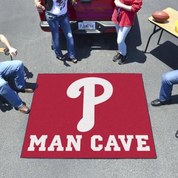 "59.5"" x 71"" Philadelphia Phillies Man Cave Tailgater Red Rectangle Mat"