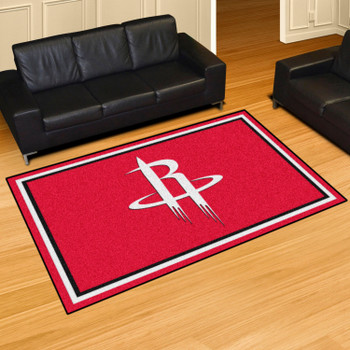 """59.5"""" x 88"""" Houston Rockets Red Rectangle Rug"""