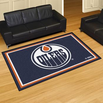 "59.5"" x 88"" Edmonton Oilers Blue Rectangle Rug"