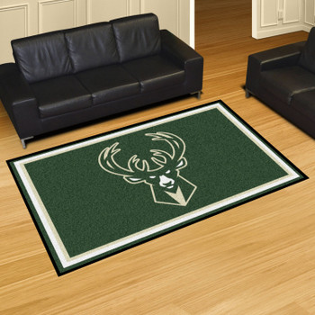"59.5"" x 88"" Milwaukee Bucks Green Rectangle Rug"