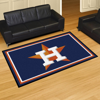 "59.5"" x 88"" Houston Astros Orange Rectangle Rug"