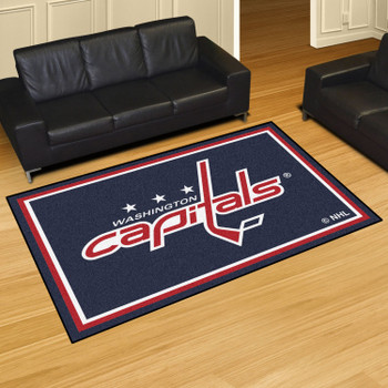 "59.5"" x 88"" Washington Capitals Red Rectangle Rug"
