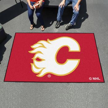 "59.5"" x 94.5"" Calgary Flames Red Rectangle Ulti Mat"