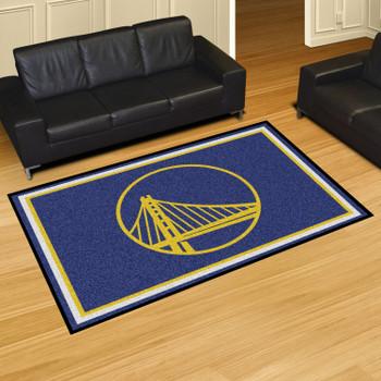 "59.5"" x 88"" Golden State Warriors Blue Rectangle Rug"