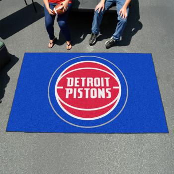 "59.5"" x 94.5"" Detroit Pistons Blue Rectangle Ulti Mat"