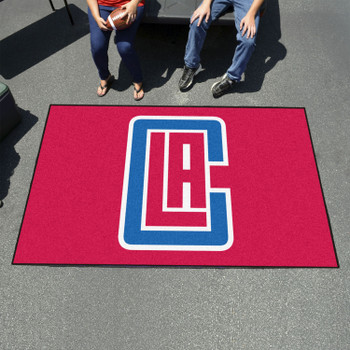 """59.5"""" x 94.5"""" Los Angeles Clippers Red Rectangle Ulti Mat"""