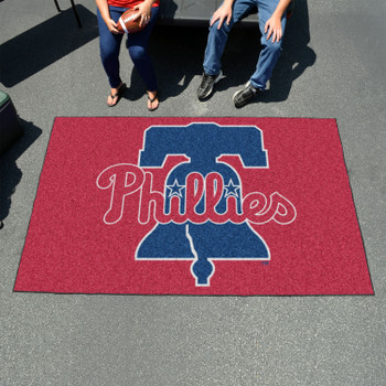 "59.5"" x 94.5"" Philadelphia Phillies Red Rectangle Ulti Mat"