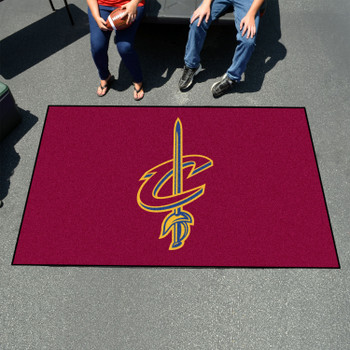 """59.5"""" x 94.5"""" Cleveland Cavaliers Maroon Rectangle Ulti Mat"""