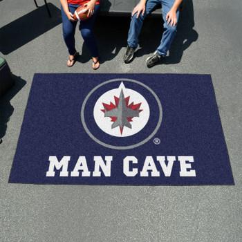 "59.5"" x 94.5"" Winnipeg Jets Navy Man Cave Rectangle Ulti Mat"