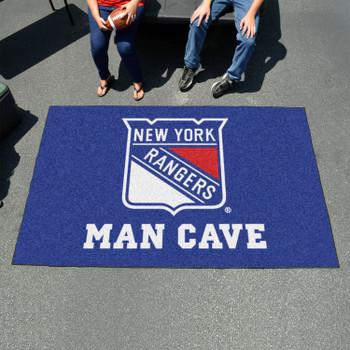 "59.5"" x 94.5"" New York Rangers Blue Man Cave Rectangle Ulti Mat"