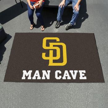"""59.5"""" x 94.5"""" San Diego Padres Navy Man Cave Rectangle Ulti Mat"""