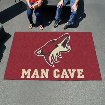 "59.5"" x 94.5"" Arizona Coyotes Maroon Man Cave Rectangle Ulti Mat"