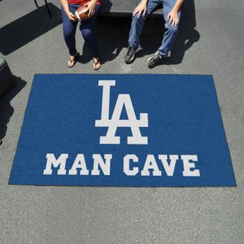 "59.5"" x 94.5"" Los Angeles Dodgers Blue Man Cave Rectangle Ulti Mat"