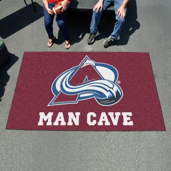 "59.5"" x 94.5"" Colorado Avalanche Maroon Man Cave Rectangle Ulti Mat"