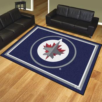 8' x 10' Winnipeg Jets Navy Rectangle Rug