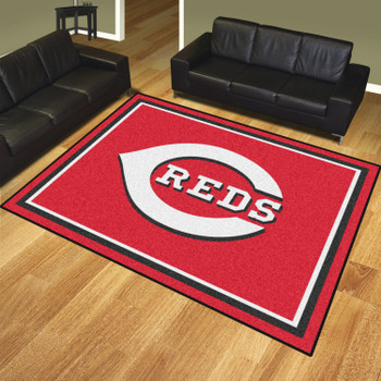 8' x 10' Cincinnati Reds Red Rectangle Rug