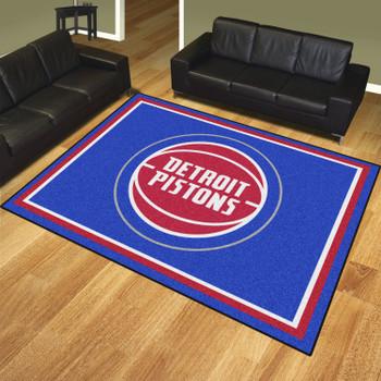 8' x 10' Detroit Pistons Blue Rectangle Rug