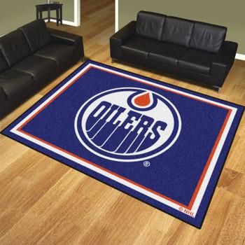 8' x 10' Edmonton Oilers Blue Rectangle Rug