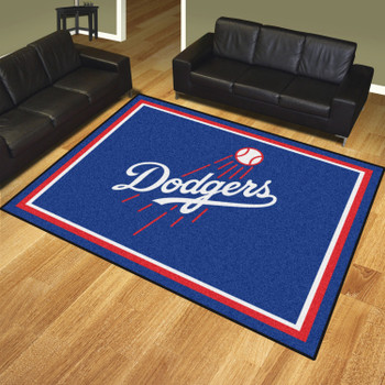 8' x 10' Los Angeles Dodgers Blue Rectangle Rug