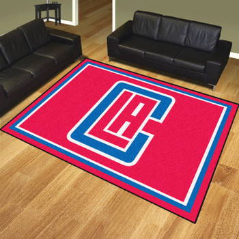 8' x 10' Los Angeles Clippers Red Rectangle Rug