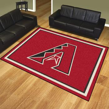 8' x 10' Arizona Diamondbacks Black Rectangle Rug