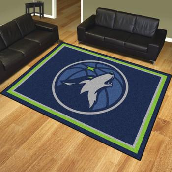 8' x 10' Minnesota Timberwolves Navy Rectangle Rug