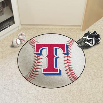 """27"""" Texas Rangers Round Baseball Mat"""