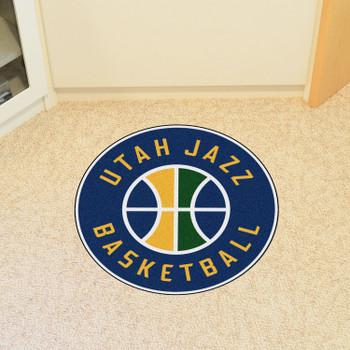"""27"""" Utah Jazz Roundel Navy Round Mat"""