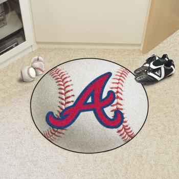 "27"" Atlanta Braves Round Baseball Mat"