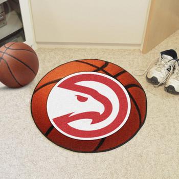 "27"" Atlanta Hawks Round Basketball Mat"