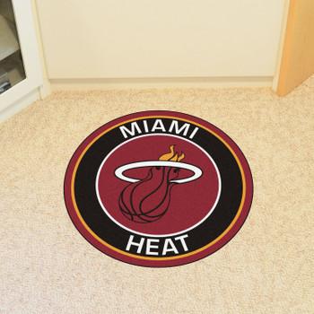 "27"" Miami Heat Roundel Black Round Mat"