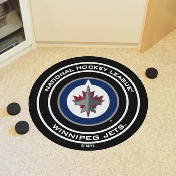 "27"" Winnipeg Jets Round Hockey Puck Mat"