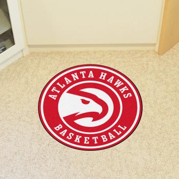 "27"" Atlanta Hawks Roundel Red Round Mat"