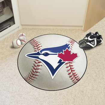 "27"" Toronto Blue Jays Round Baseball Mat"