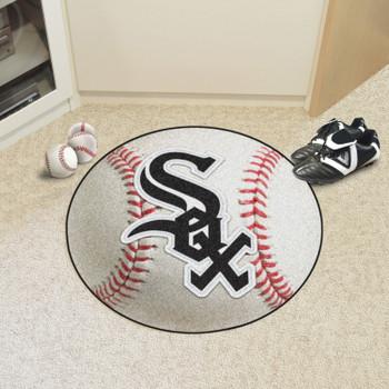 "27"" Chicago White Sox Round Baseball Mat"