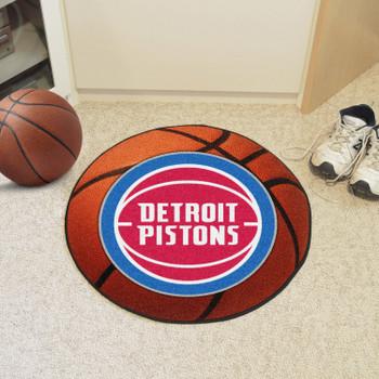 "27"" Detroit Pistons Round Basketball Mat"
