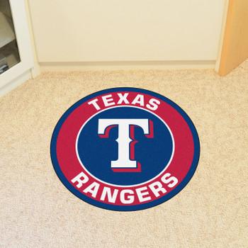 "27"" Texas Rangers Roundel Blue Round Mat"