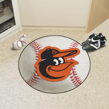 "27"" Baltimore Orioles Round Baseball Mat"