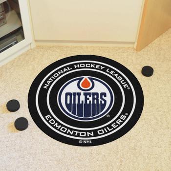 "27"" Edmonton Oilers Round Hockey Puck Mat"