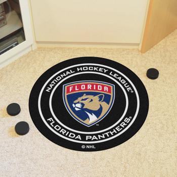 "27"" Florida Panthers Round Hockey Puck Mat"