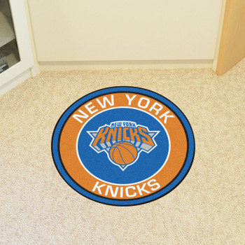 "27"" New York Knicks Roundel Blue Round Mat"