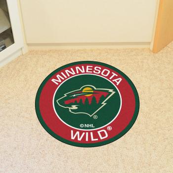 """27"""" Minnesota Wild Roundel Green Round Mat"""