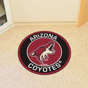 "27"" Arizona Coyotes Roundel Black Round Mat"