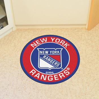 "27"" New York Rangers Roundel Blue Round Mat"
