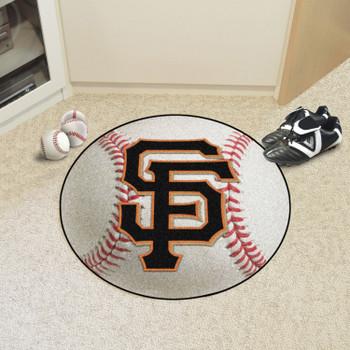"27"" San Francisco Giants Round Baseball Mat"