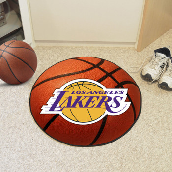 """27"""" Los Angeles Lakers Round Basketball Mat"""