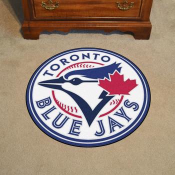 """27"""" Toronto Blue Jays Roundel Blue Round Mat"""