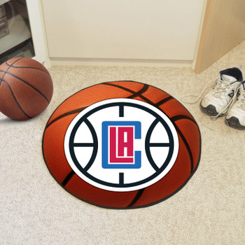 """27"""" Los Angeles Clippers Round Basketball Mat"""