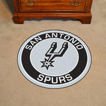 "27"" San Antonio Spurs Roundel Black Round Mat"