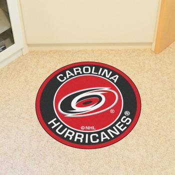 """27"""" Carolina Hurricanes Roundel Red Round Mat"""